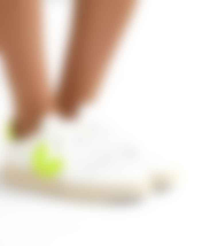 Veja Leather Neon Yellow V 10 Trainers Shoes