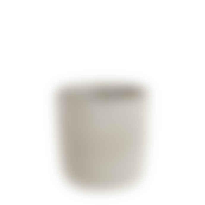 Affari Large Grey Textured Concrete pot with pattern