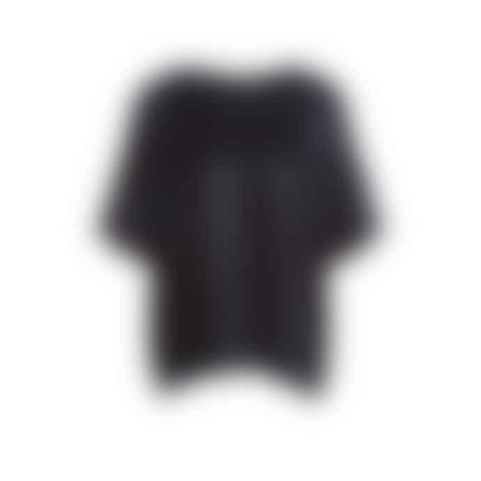 Set Fashion Blouse In Metallic Black