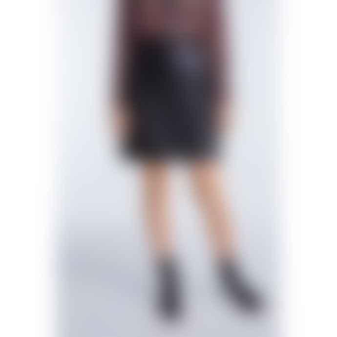 Set Fashion Black Leather Mini Skirt