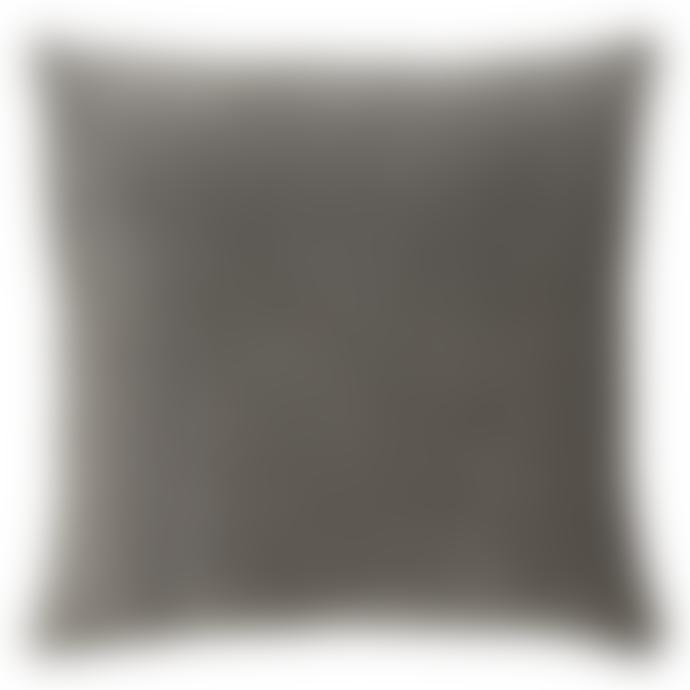 Madam Stoltz 50 x 50cm Dark Grey Velvet Cushion