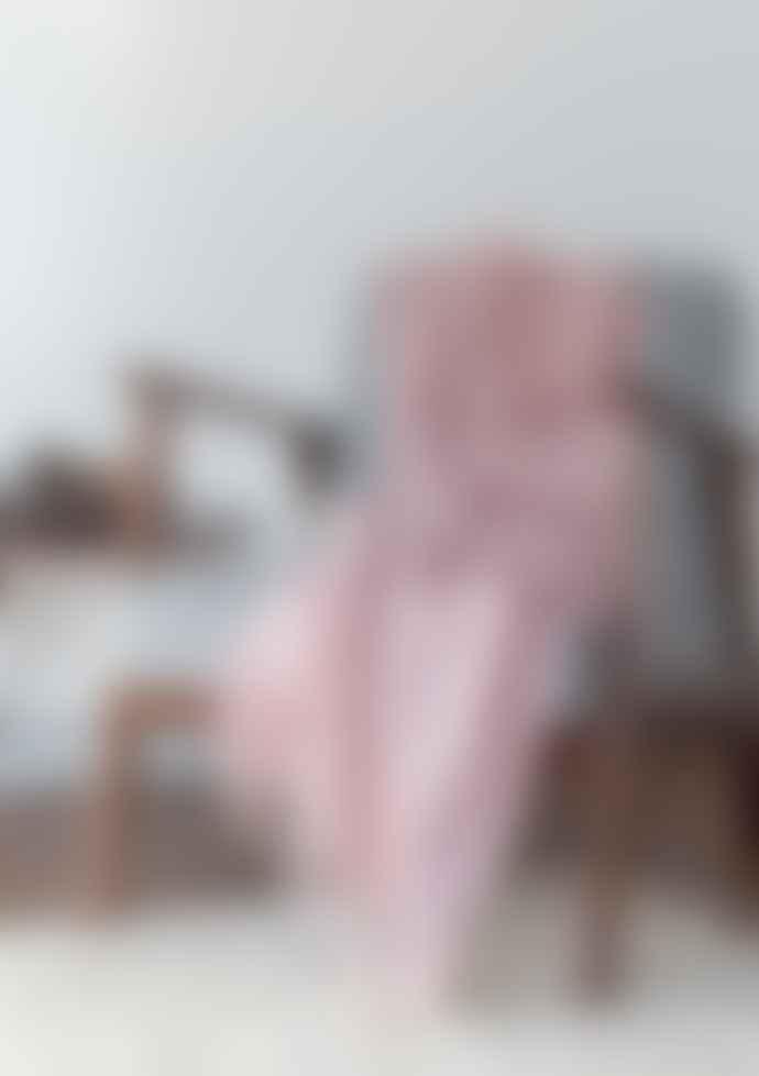 The Tartan Blanket Co. Merino Cashmere Rose Pink Small Blanket