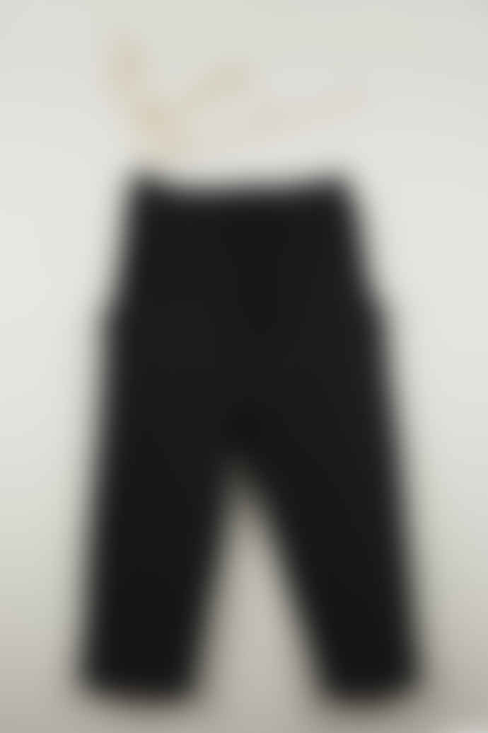 Popelin Black Ankle Pocket View Pant