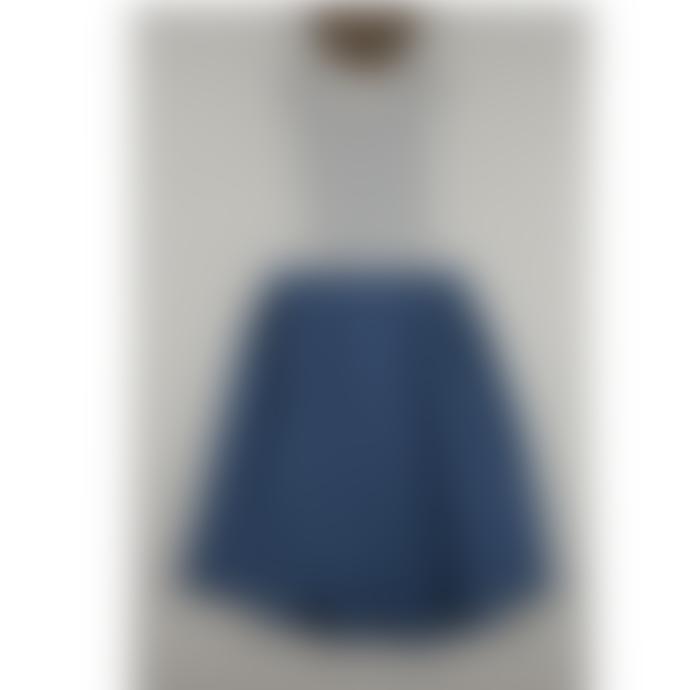 Popelin Blue Reversible and Detachable Peto Skirt Dress