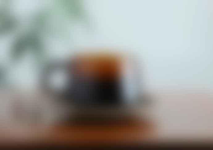 Kinto Sepia cup and saucer