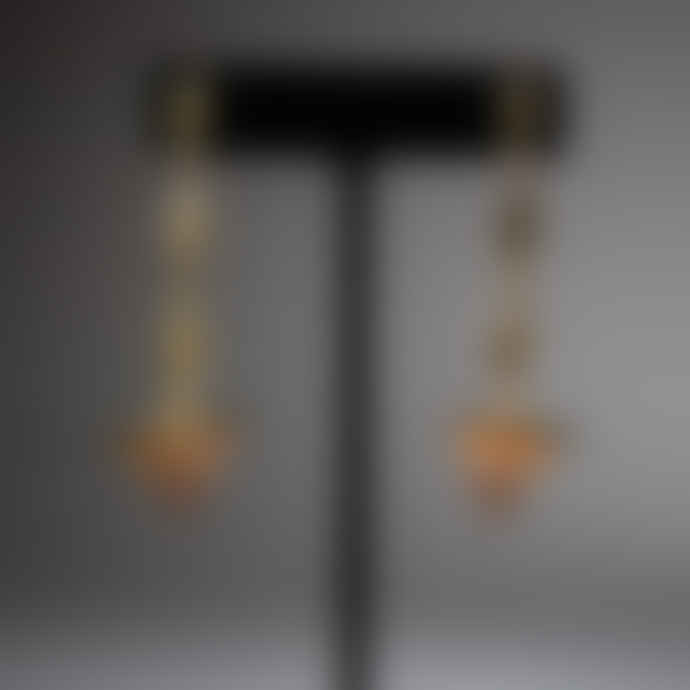 L'imperatrice Three Eye Pyramid Earrings