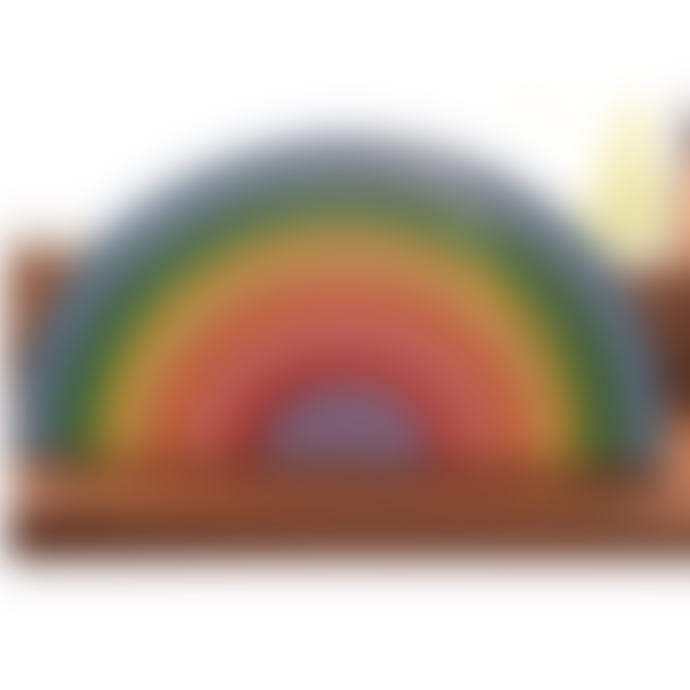 Handmade Wooden Toys Mega Sunset Colours Wooden Rainbow Puzzle Toy