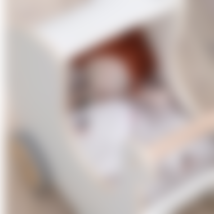 Sebra White Classic Wooden Doll's Pram