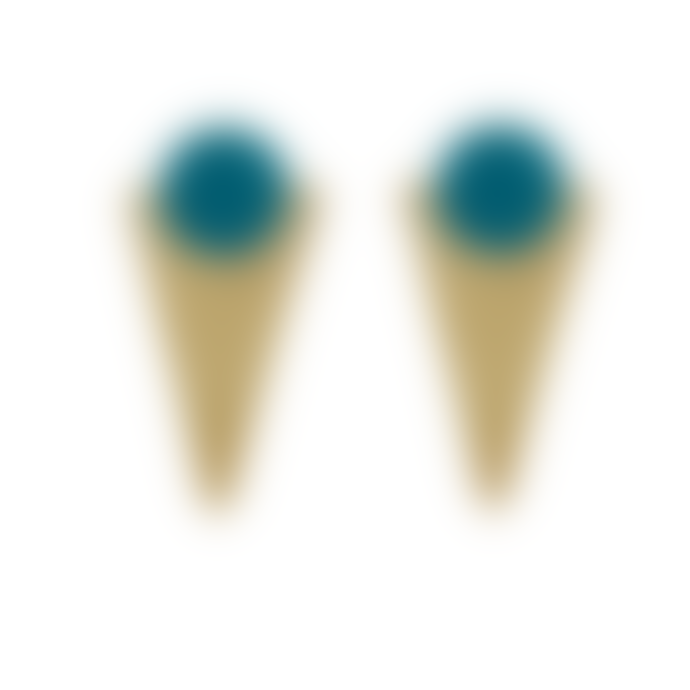Just Trade  Brass Geometric Shape Studs