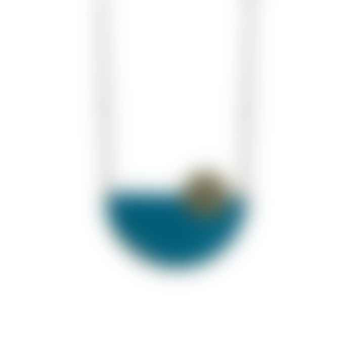 Just Trade  Brass Semi Circle Pendant Necklace