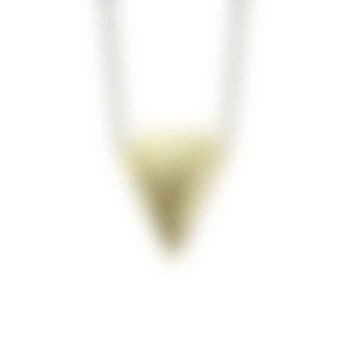 Just Trade  Brass Geometric Shape Lucie Pendant Necklace