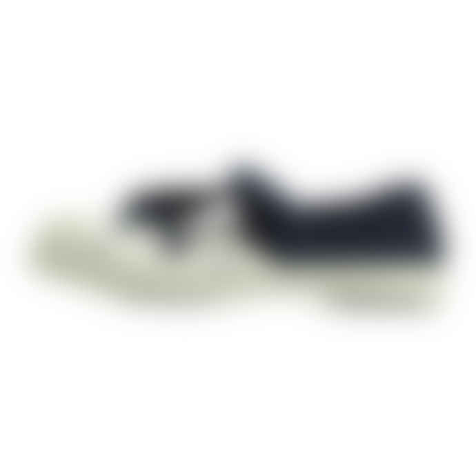 Bensimon White and Navy Blue Polka Dot Shoe