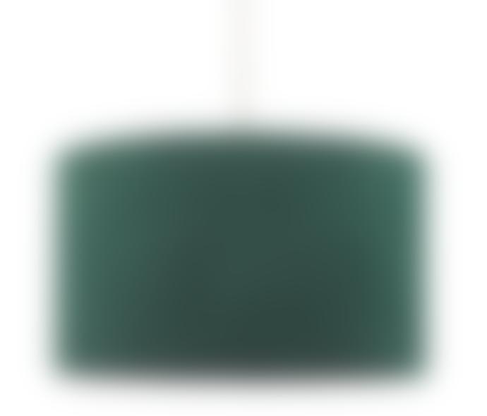 Deep Green Velvet Pendant Shade 21 x 35 cm