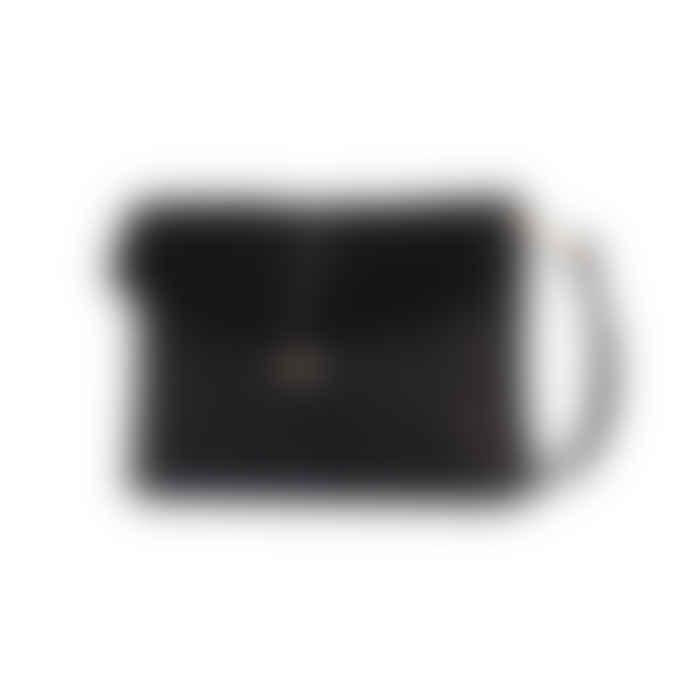 O My Bag  Ella Midi Black Soft Grain Leather Bag