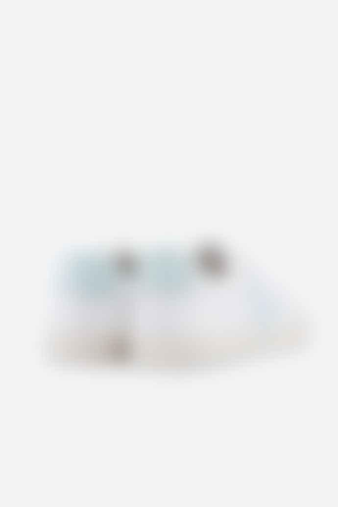 Veja Esplar White Menthol Leather Logo Trainer Shoes