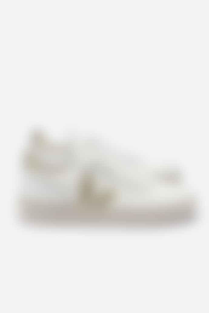 Veja V 10 White Gold Leather Mesh Trainer Shoes