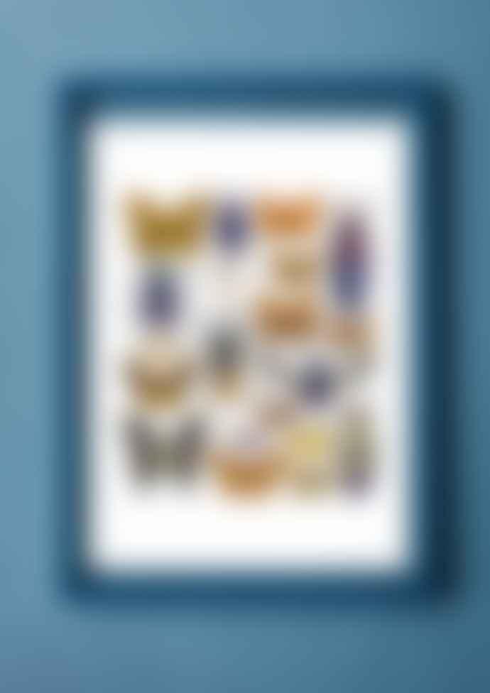 Moebe Petrol Blue A4 frame + Liljebergs print (4 variants)
