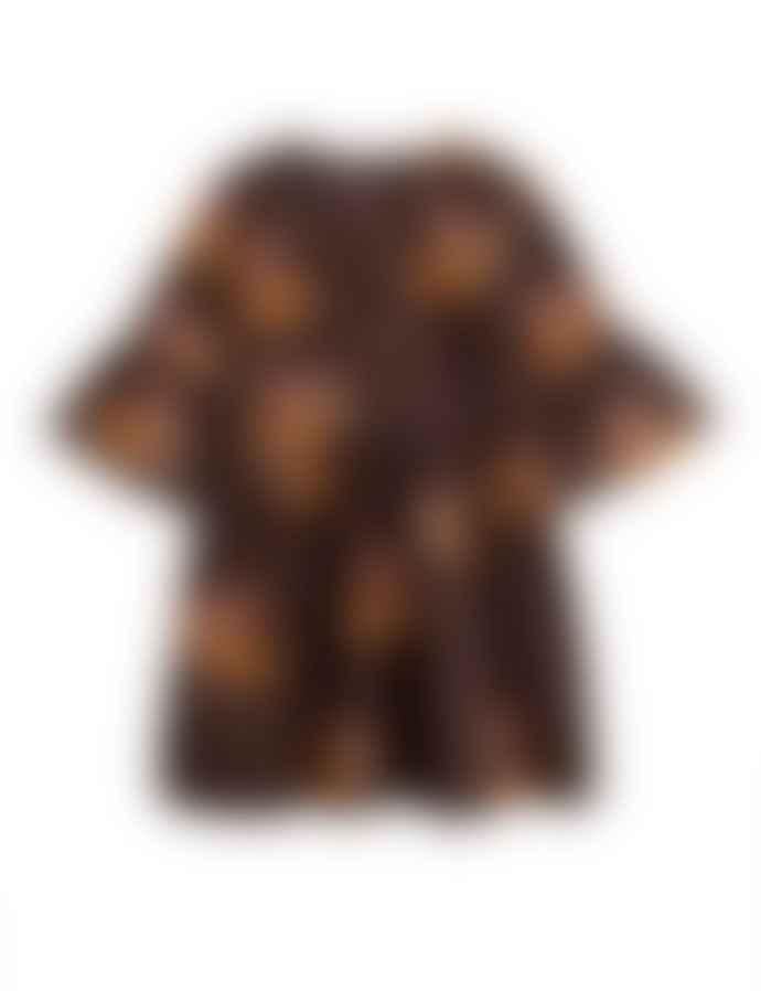 Mini Rodini Brown Posh Guinea Pig Dress