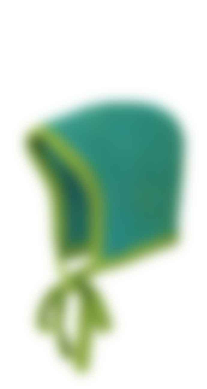 Disana Green Wool Knit Cap