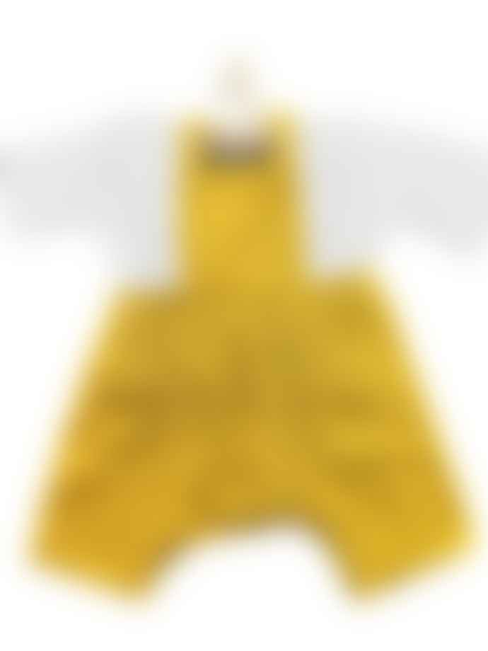 Minikane Mustard Overalls and Long Sleeved White Top