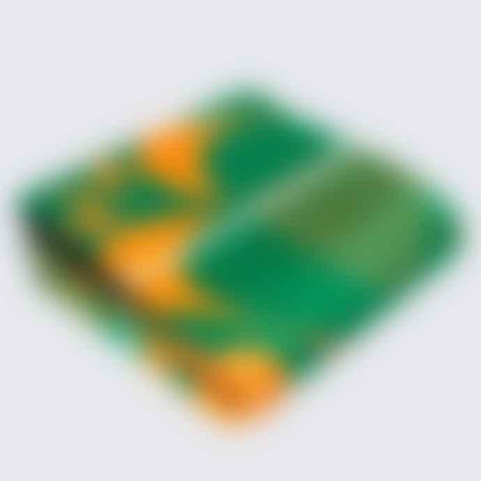 Artisans & Adventurers Khotso Tradtional Basotho Blanket Green Orange Cards