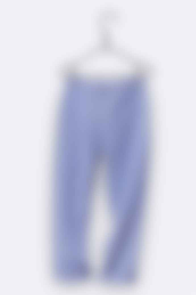 LOVE kidswear Leo Trousers In Navy White Striped Cotton