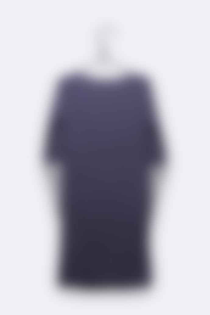 LOVE kidswear Carla Dress In Navy Lilac And Off White Navy Stripes