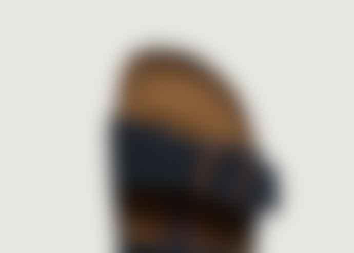Birkenstock Navy Blue Suede Leather Arizona Sandals