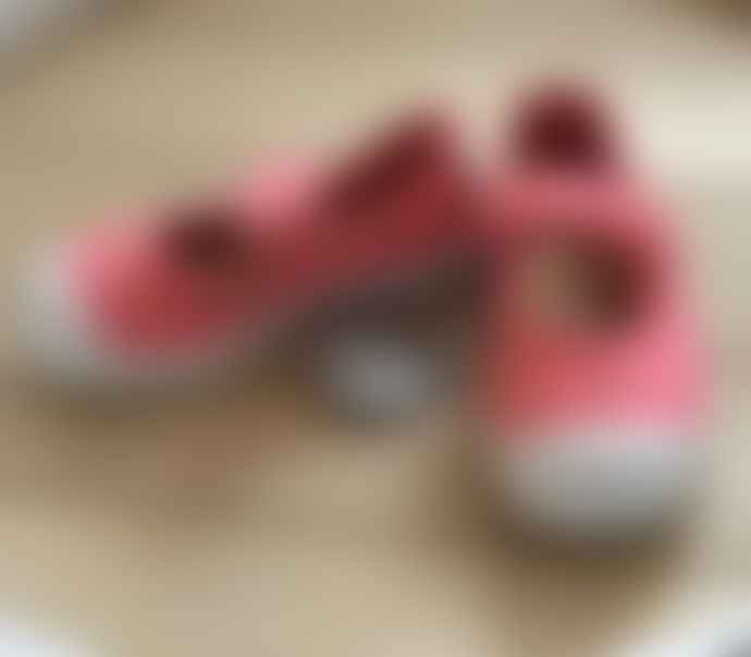 Natural World Coral Fabric Shoes with Velcro