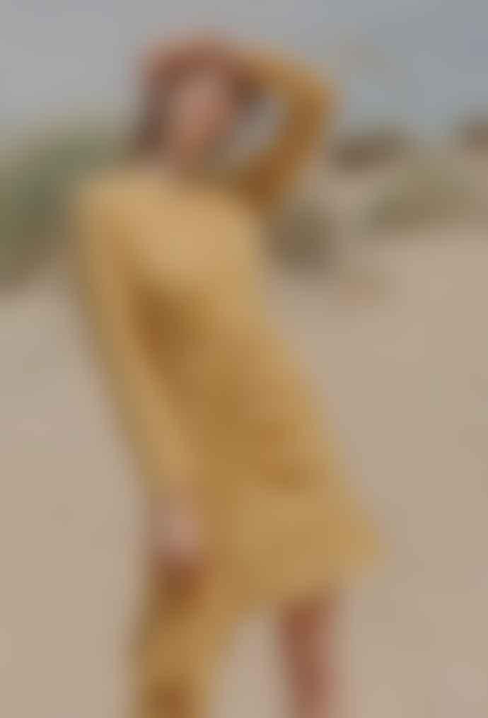 Jovonna London Yellow Jordaan Polka Dot Asymmetric Dress