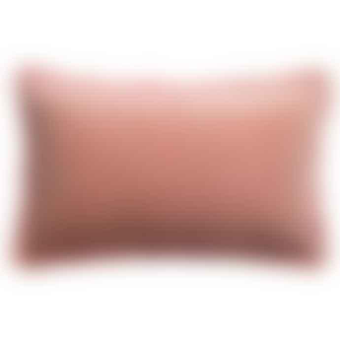 Vivaraise Uni Fara Pink Fringed Velvet  Cushion