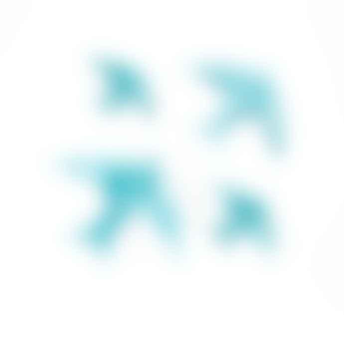 casa atlantica Ceramic Swallows Blue Set Of 4