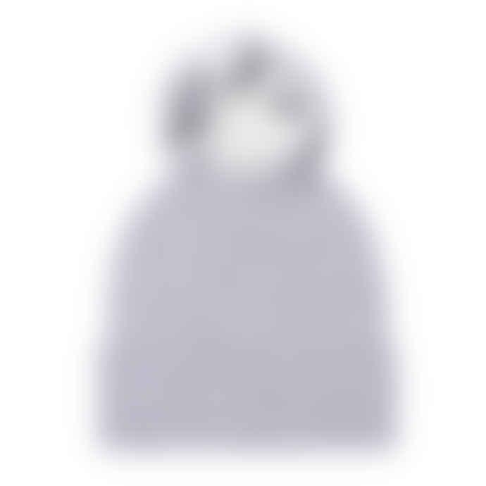 Grey 100% Cashmere Luxury Pom Pom Beanie