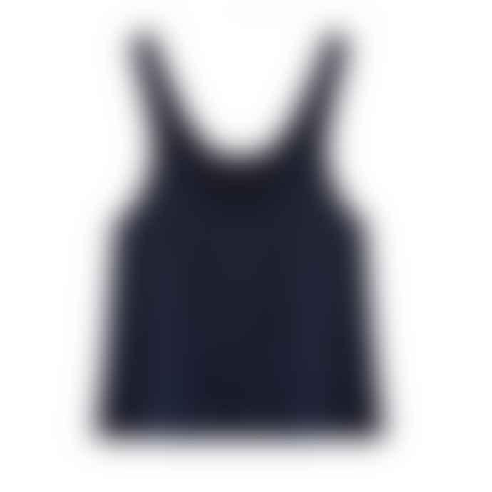 Louise Misha Blue Silk Steel Leontine Top