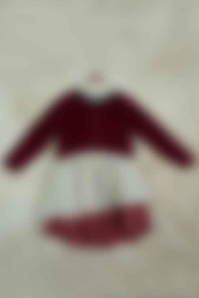 Popelin Burgundy Sleeve Dress