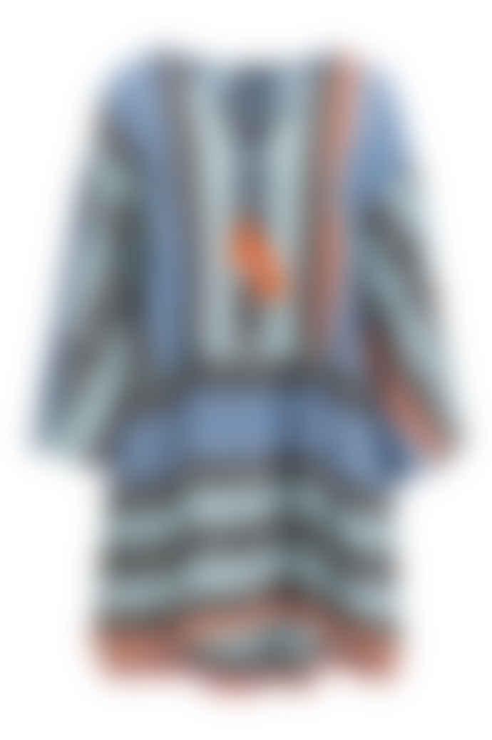 DEVOTION Short Zakar Ioanna Dress Blue/ Orange