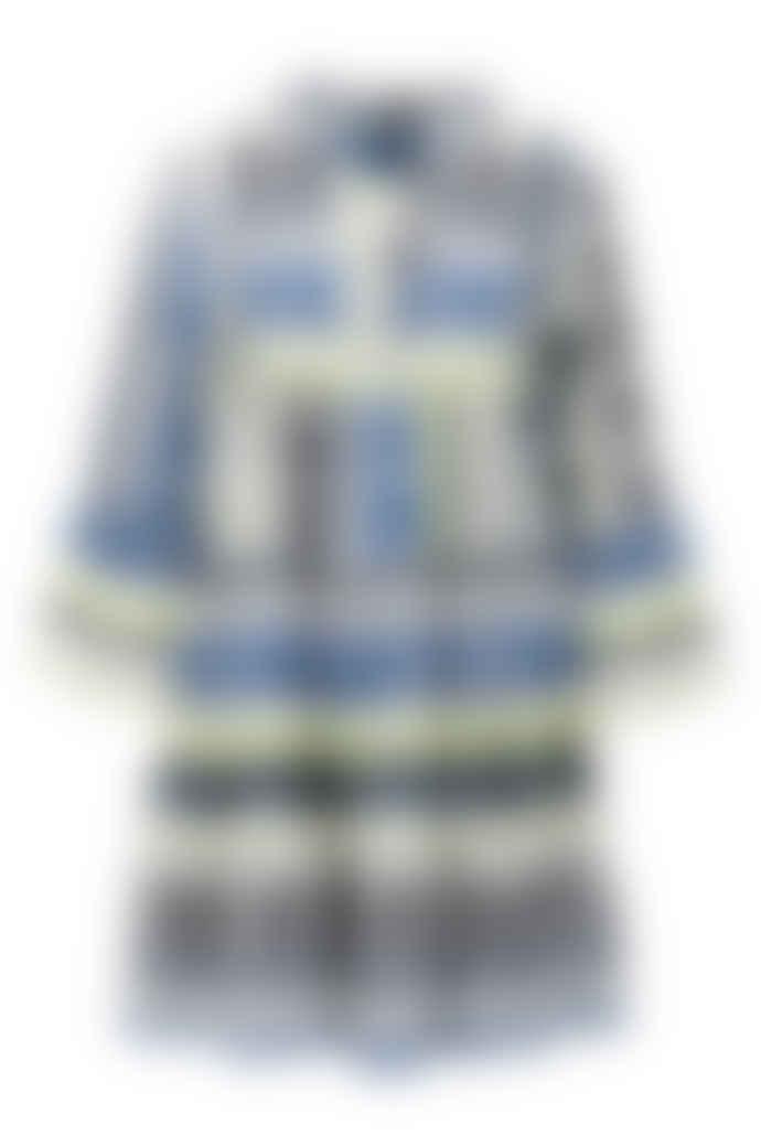 DEVOTION Short Aztek Dress Blue/ White