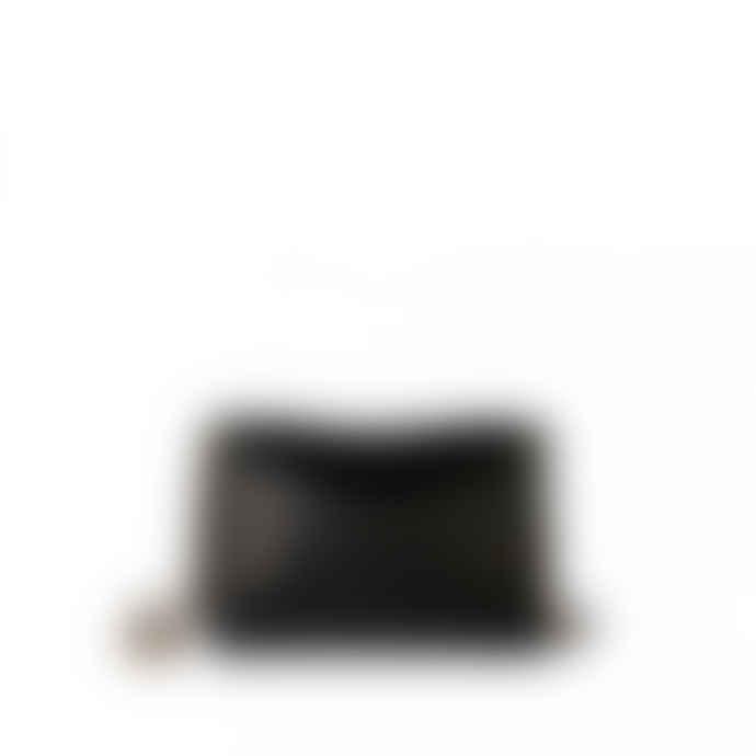 Jerome Dreyfuss Medium Black Leather Lulu Handbag