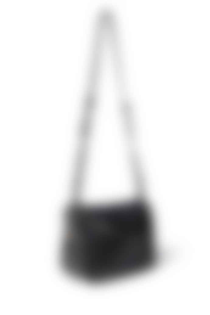 Jerome Dreyfuss Black Leather Bubble Igor Handbag