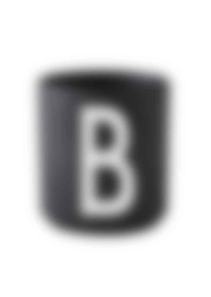 Design Letters Porcelain Mug B Black