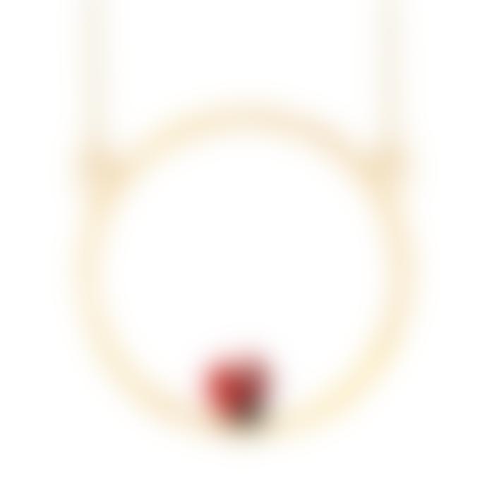 Nach Mini Gold Ladybug Necklace