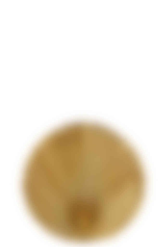 Madam Stoltz Mustard Stoneware Leaf Vase