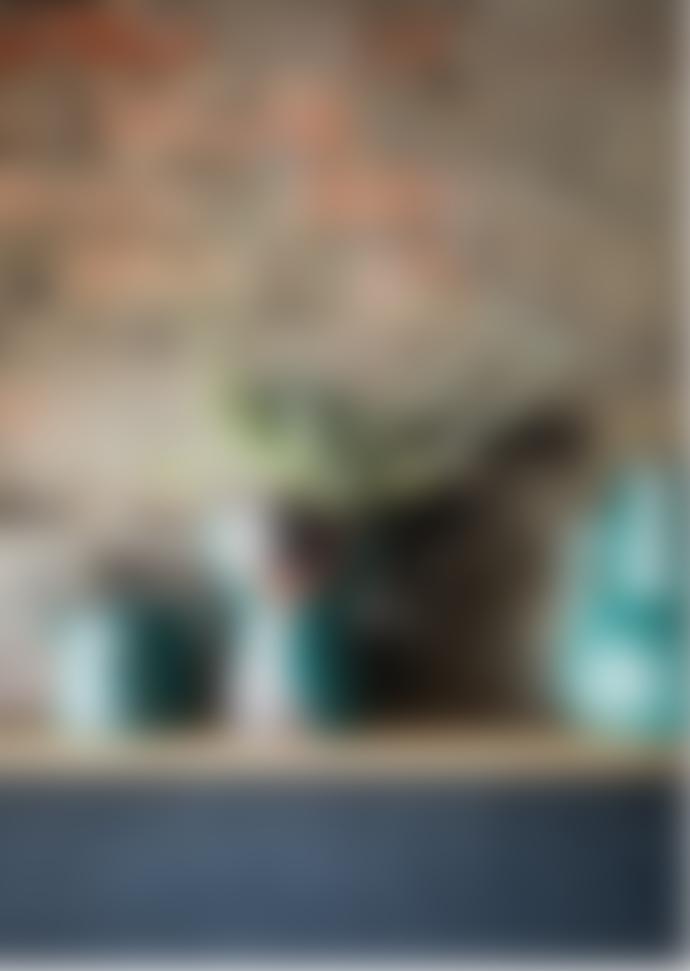 Madam Stoltz Teal and Black Terracotta Vase