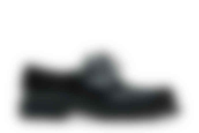 Paraboot Black Leather Michael Gloss Derbies Shoes