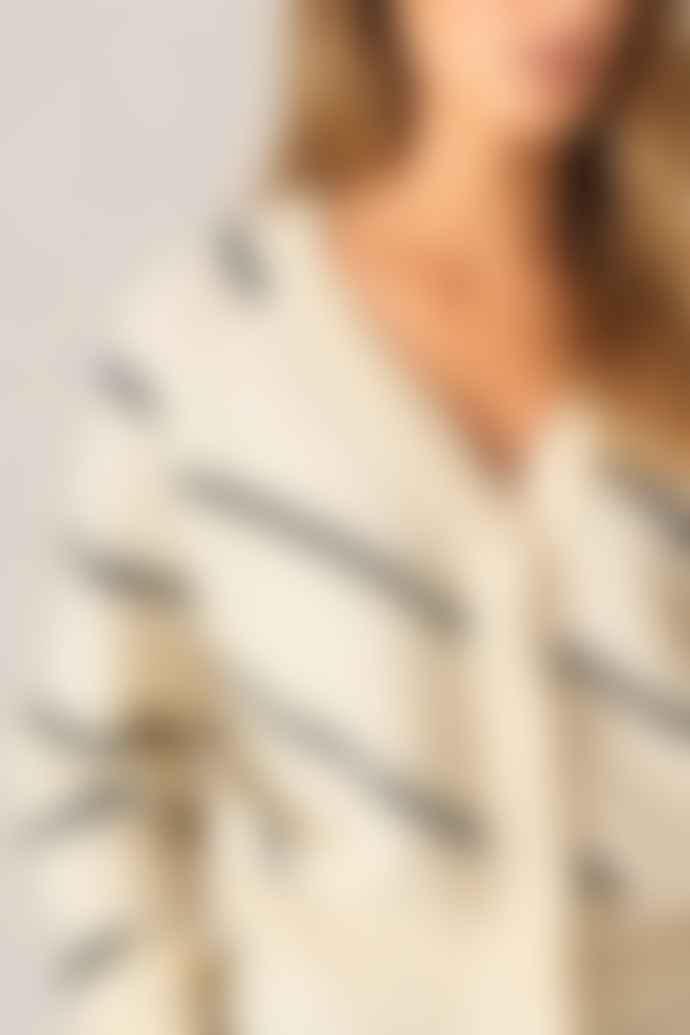 Second Female Brook Striped Eggnog Cardigan