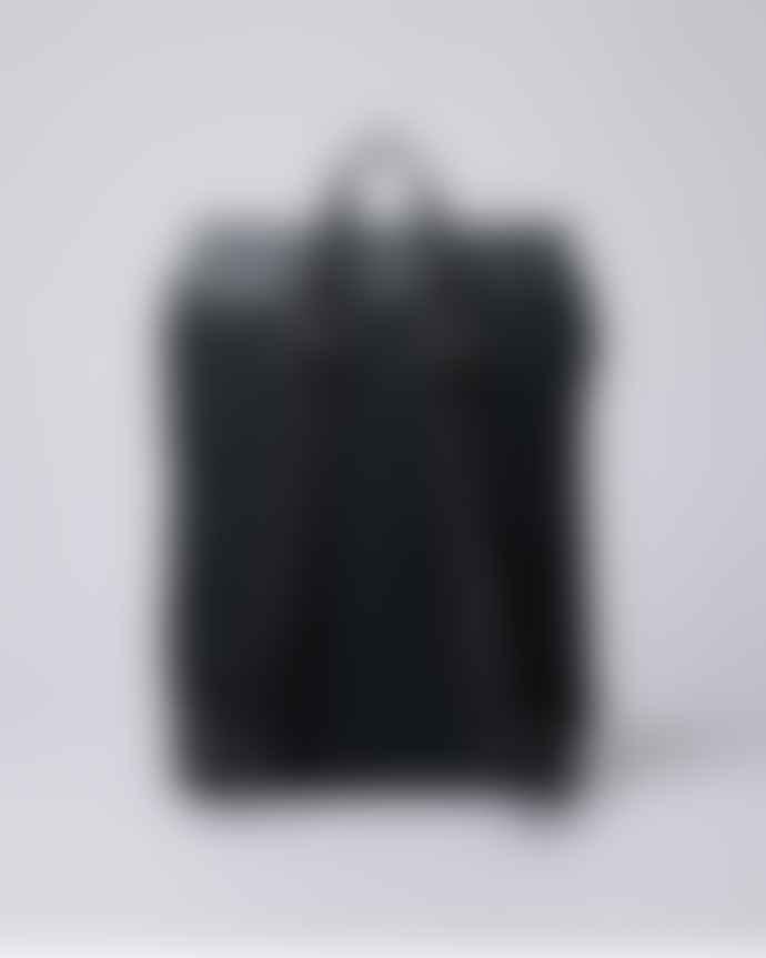 Sandqvist  Black Bi Material Hege Backpack