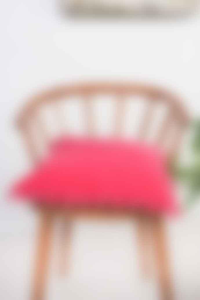 Ian Snow Cotton Velvet Cushion Cover With Pom Poms