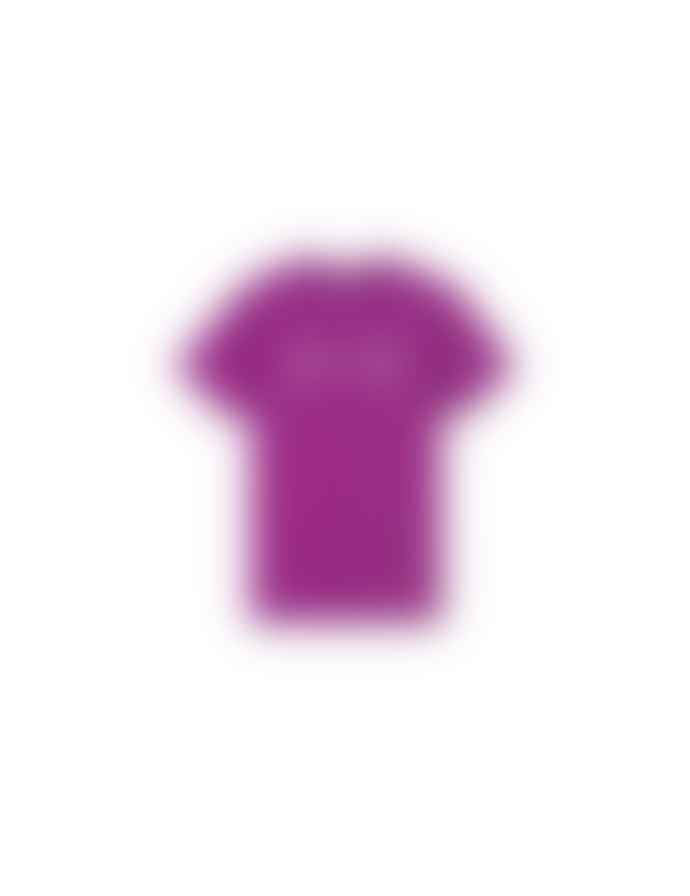 foret Slope Embroidered Logo T Shirt Purple