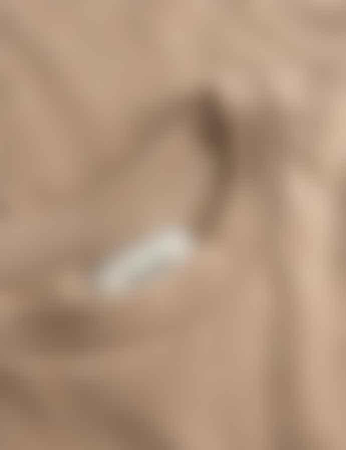 foret Slope Embroidered Logo T Shirt Beige Melange