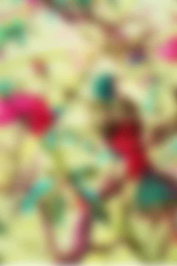 Ian Snow Lime Velvet Bird Of Paradise Quilt